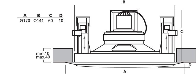 monacor 100 volt plafondspeaker 1 5w